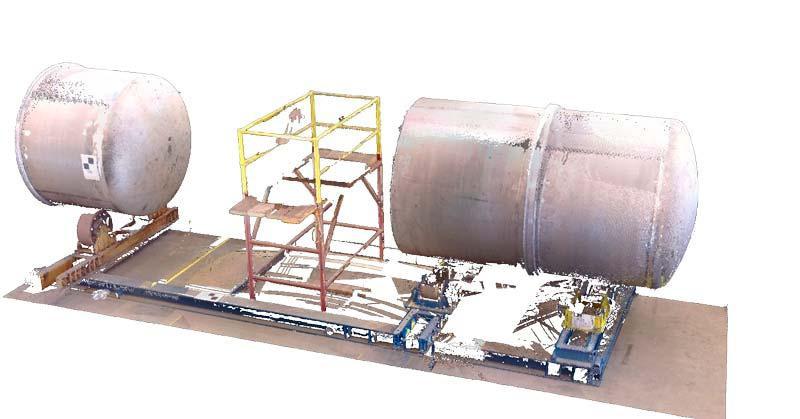 Equipment manufacturing dimensional control con 3d laser scanner (control dimensional con escaner laser 3d)