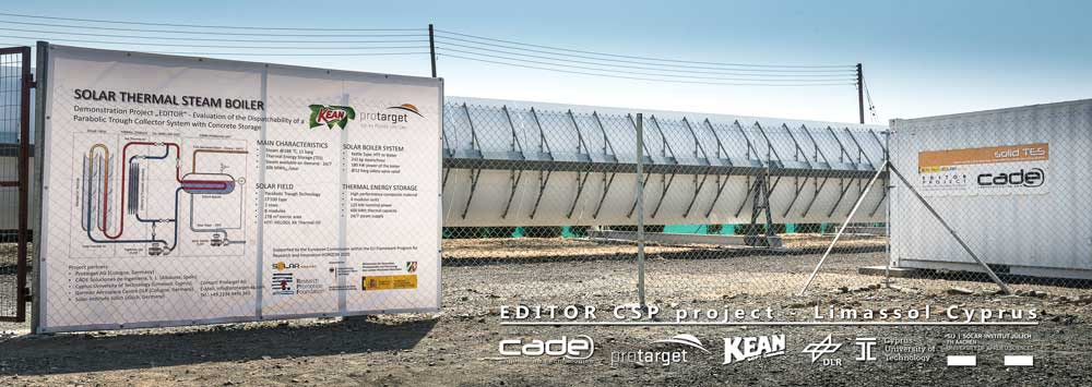 EDITOR - Parabolic Trough Collector System with Concrete Thermal Energy Storage