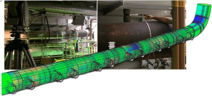 Geometry carachterization of permanent deformation of steam header pipe by means of laser tracking to be used in later FFS analysis